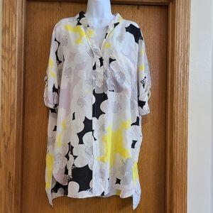 Diane Von Furstenberg Silk Tunic Shirt 12